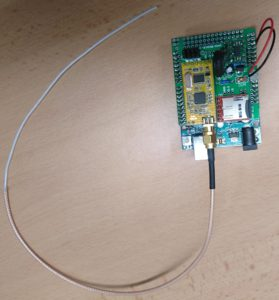 CanSat with a quarter ware thread antenna